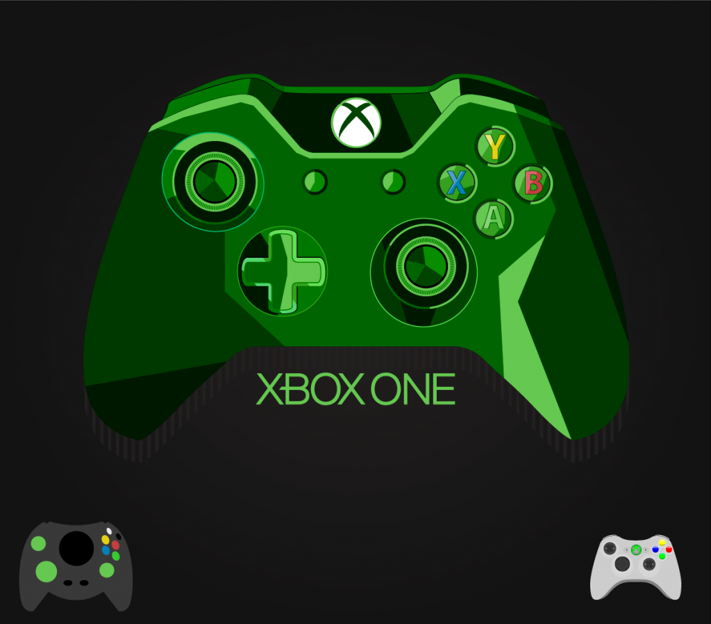 Vector Drawing Lines Xbox One : Xbox one game controller vector images