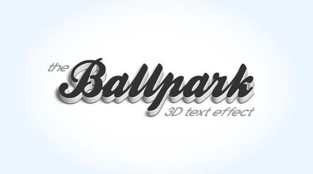 18 3D Font Effect Images - 3D Text Effect Tutorials Photoshop, 3D