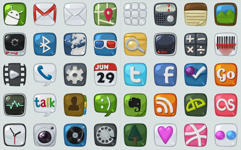 16 Free Icon Sets Android Images