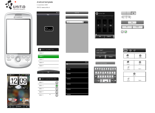 Android Phone Design Template