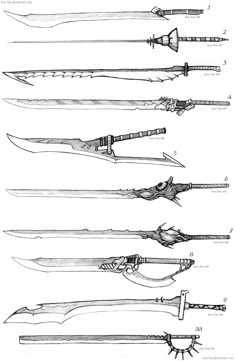 Anime sword designs
