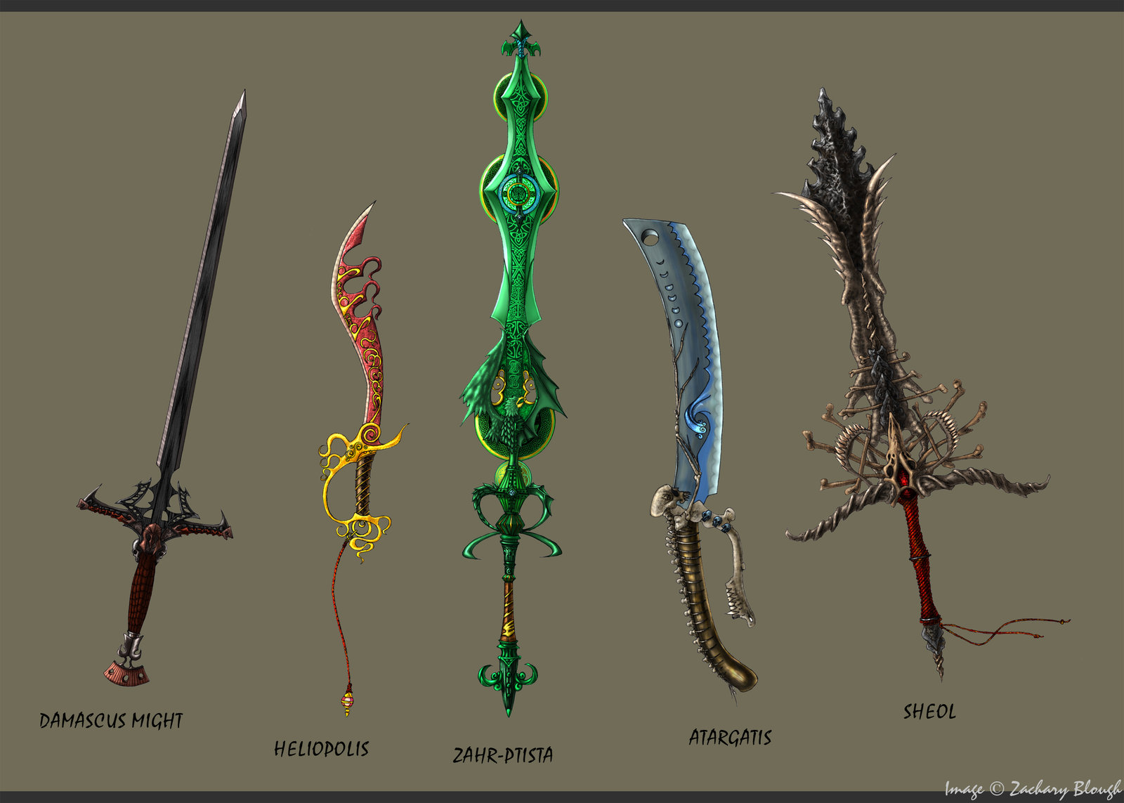 Awesome Elemental Swords