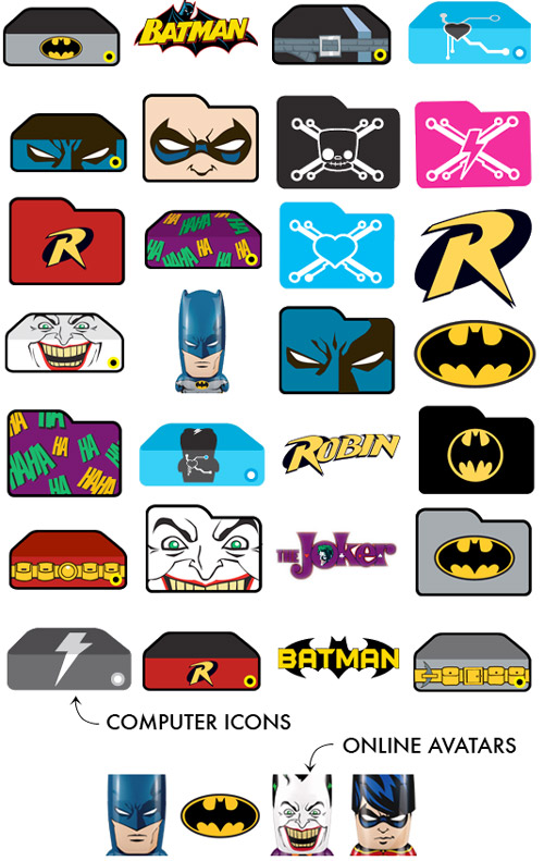 9 Batman Cool Folder Icons Images