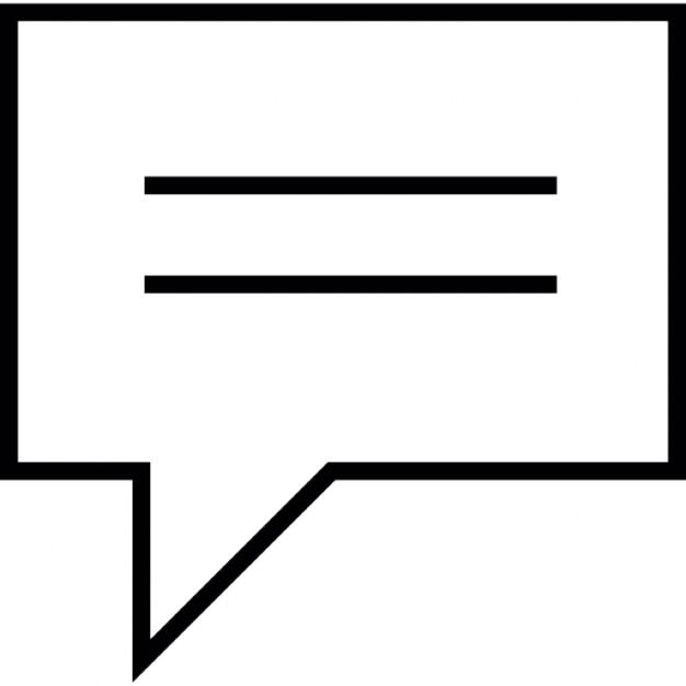 Black and White Text Bubble Icon