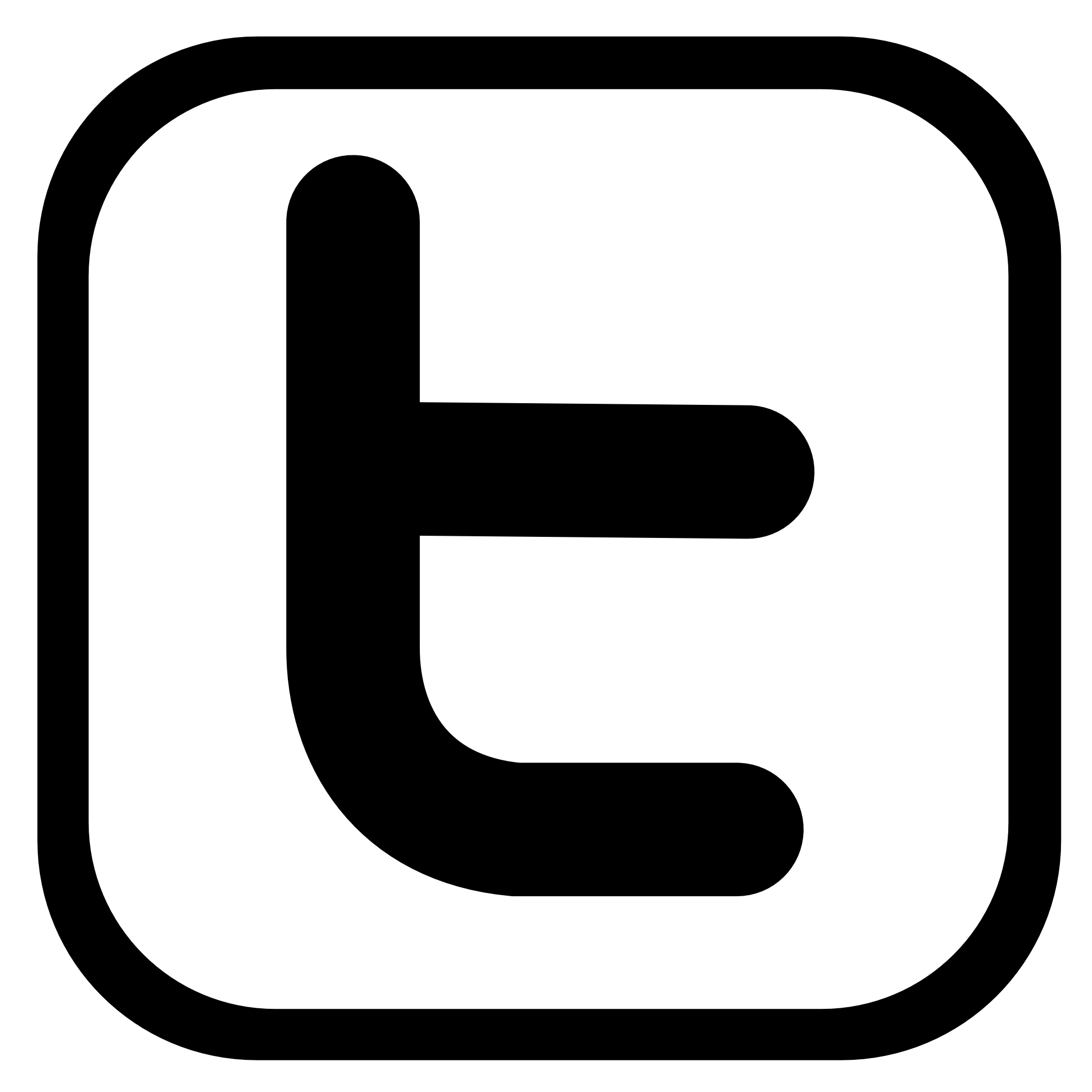 Black and White Twitter Icon