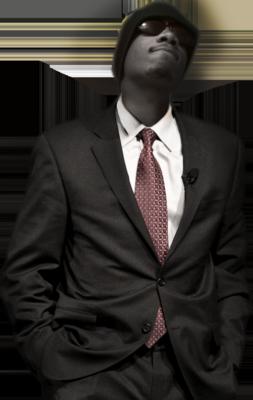 Black Man in Suit PSD