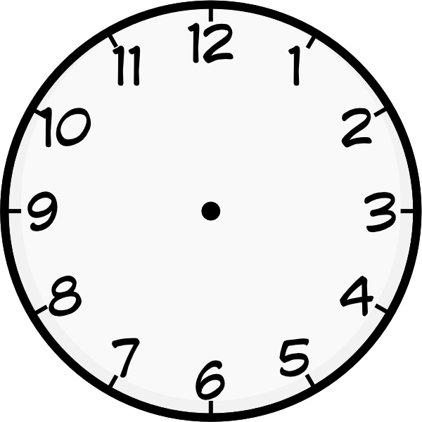 16 Clock Face Vector Art Images