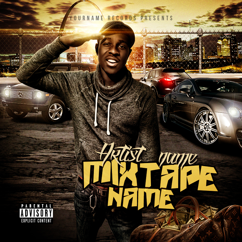 11 Mixtape Cover PSD Template Images