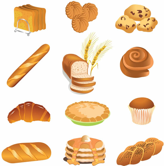 14 Bread Vector Art Images