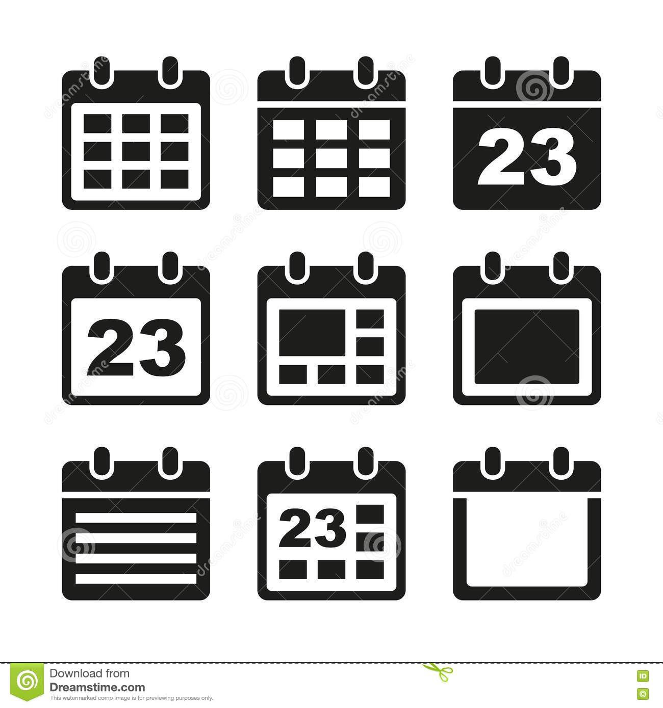 Calendar Day Vector Art : Calendar day vector images icon download