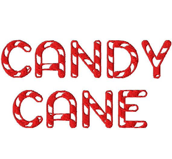 14 Candy Cane Font Images