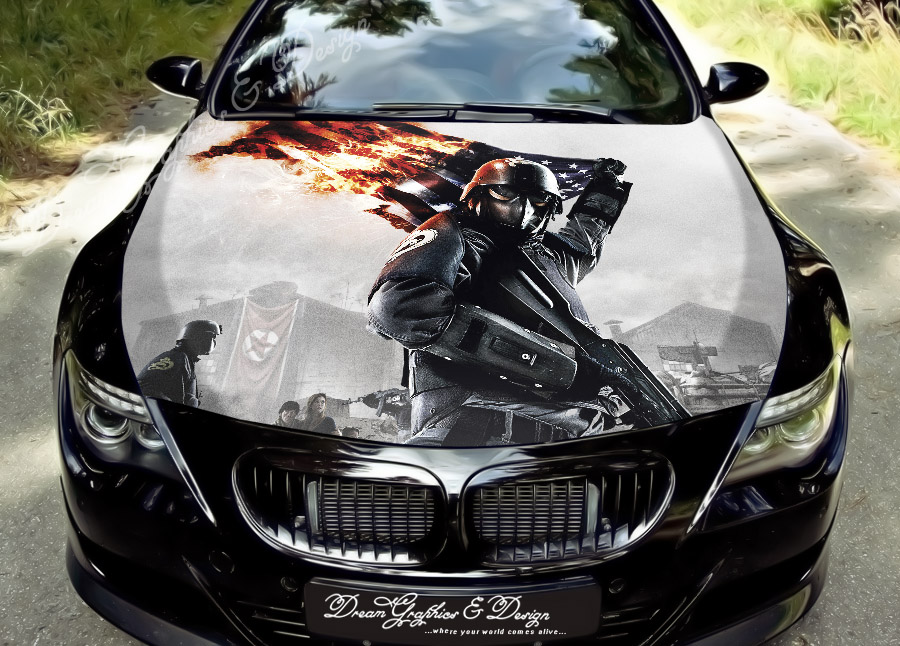 Car Hood Vinyl Decals