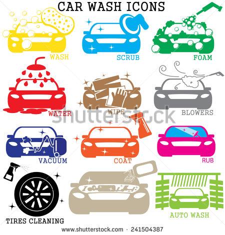 Car Wash Vector Art