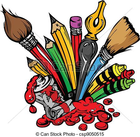 10 School Supplies Clip Art Vector Images