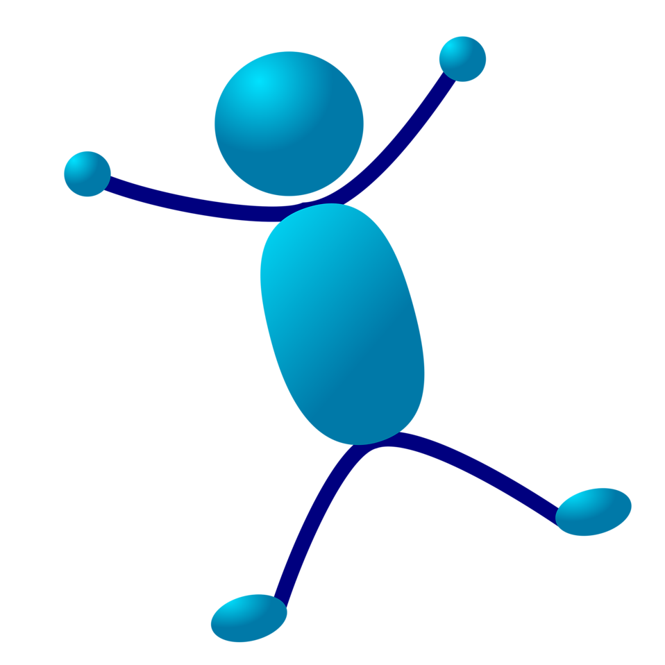Cartoon of Men Dancing Clip Art