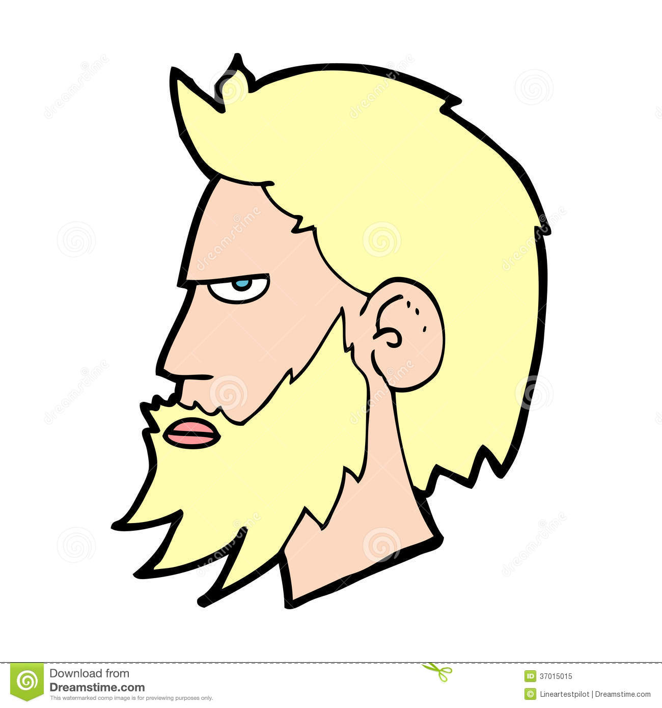 Cartoon Old Man with Beard