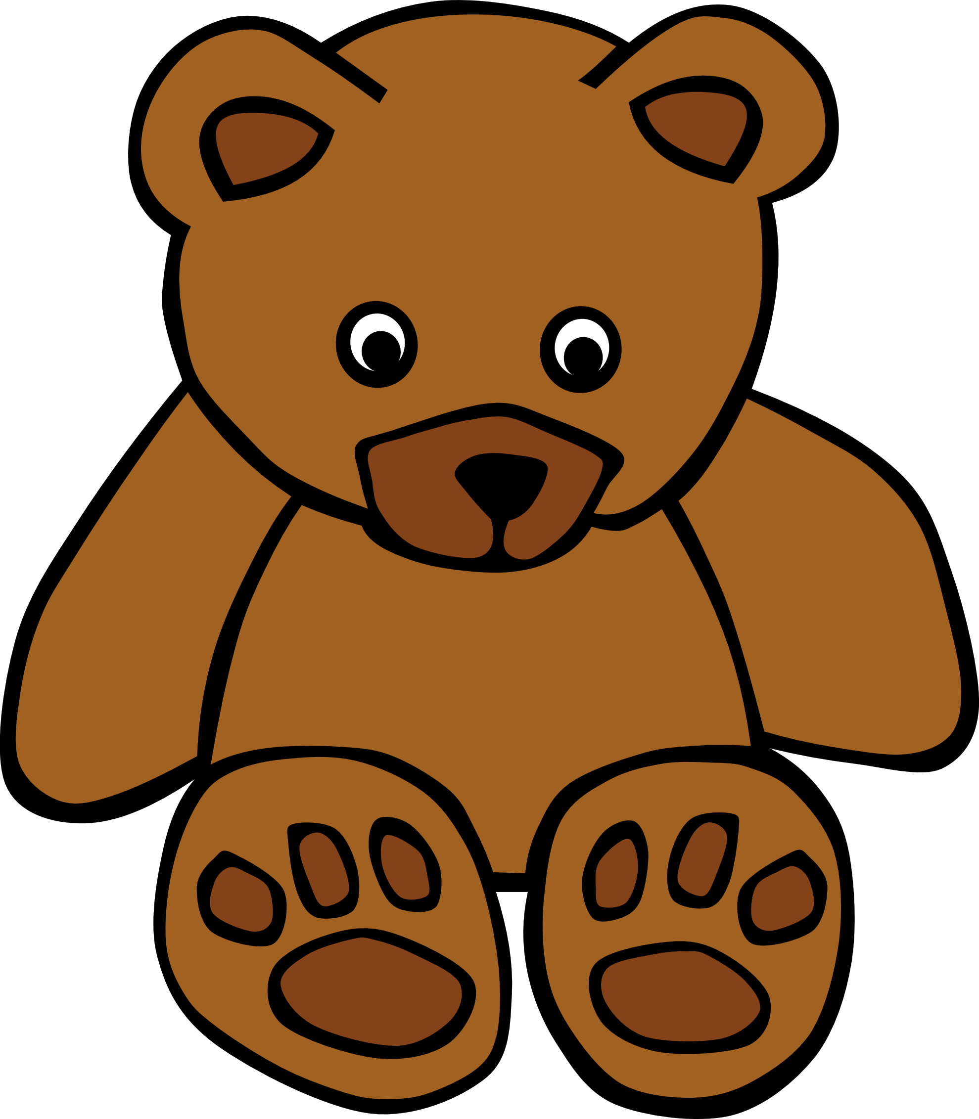 14 Christmas Teddy Bear Vector Graphics Images