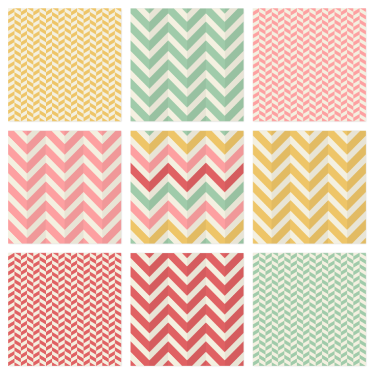 6 Chevron Pattern PSD Images
