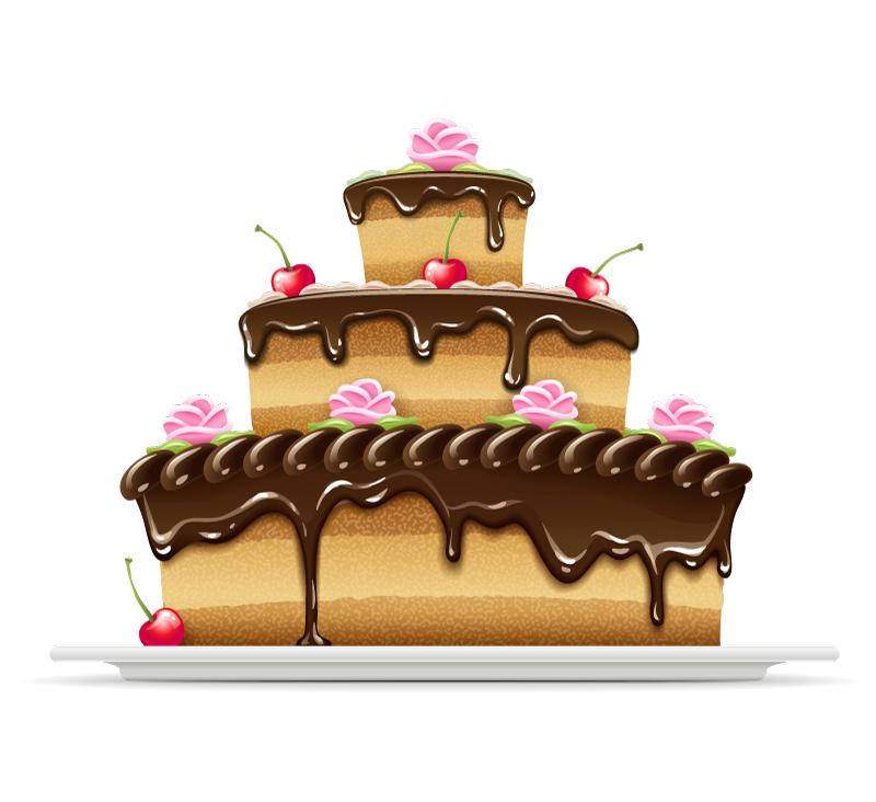 Chocolate Birthday Cake Cartoon