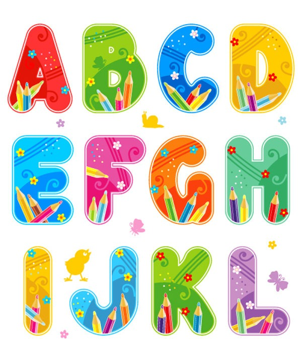 9 Cute Colorful Fonts Images