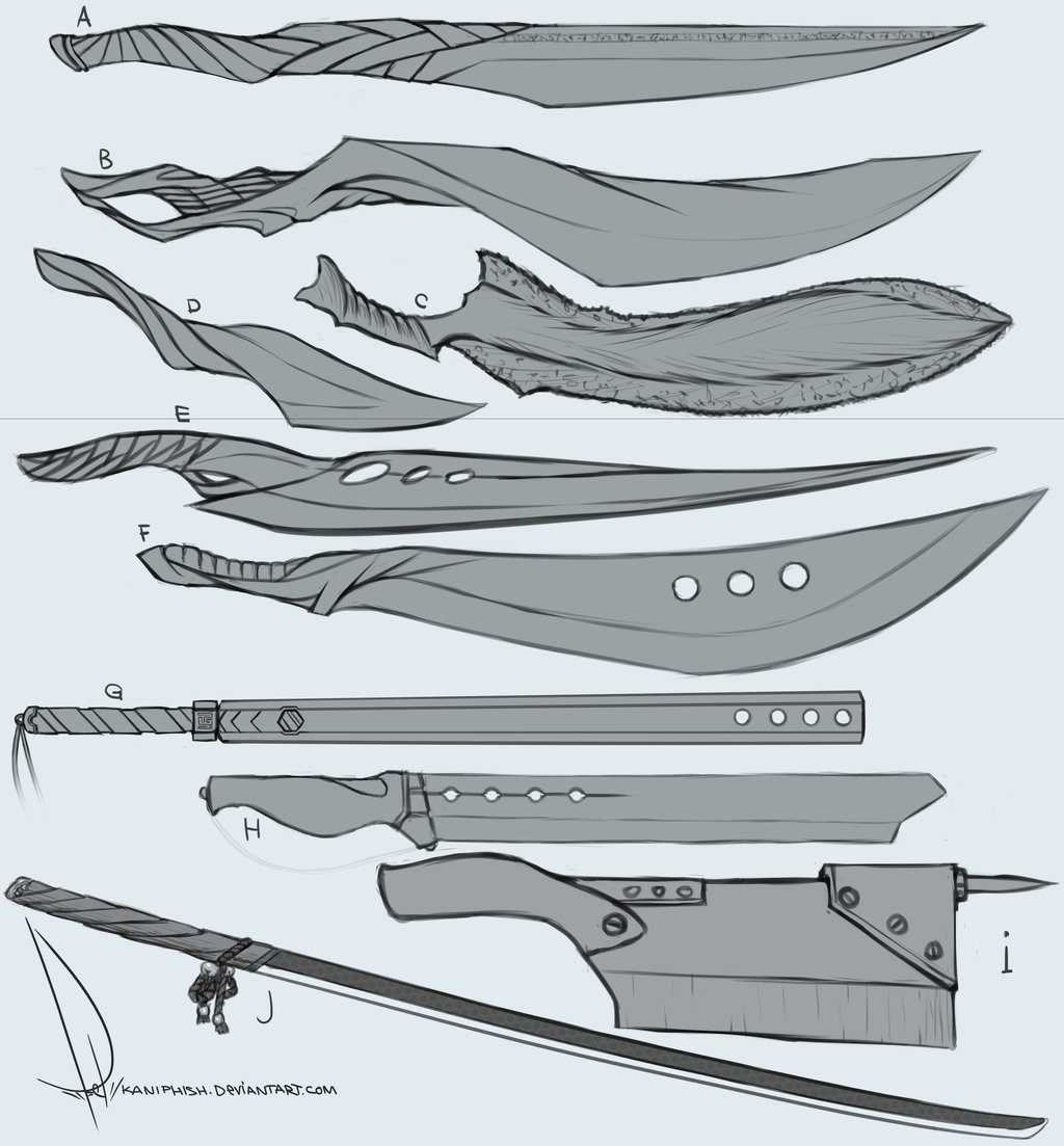 Cool anime sword designs