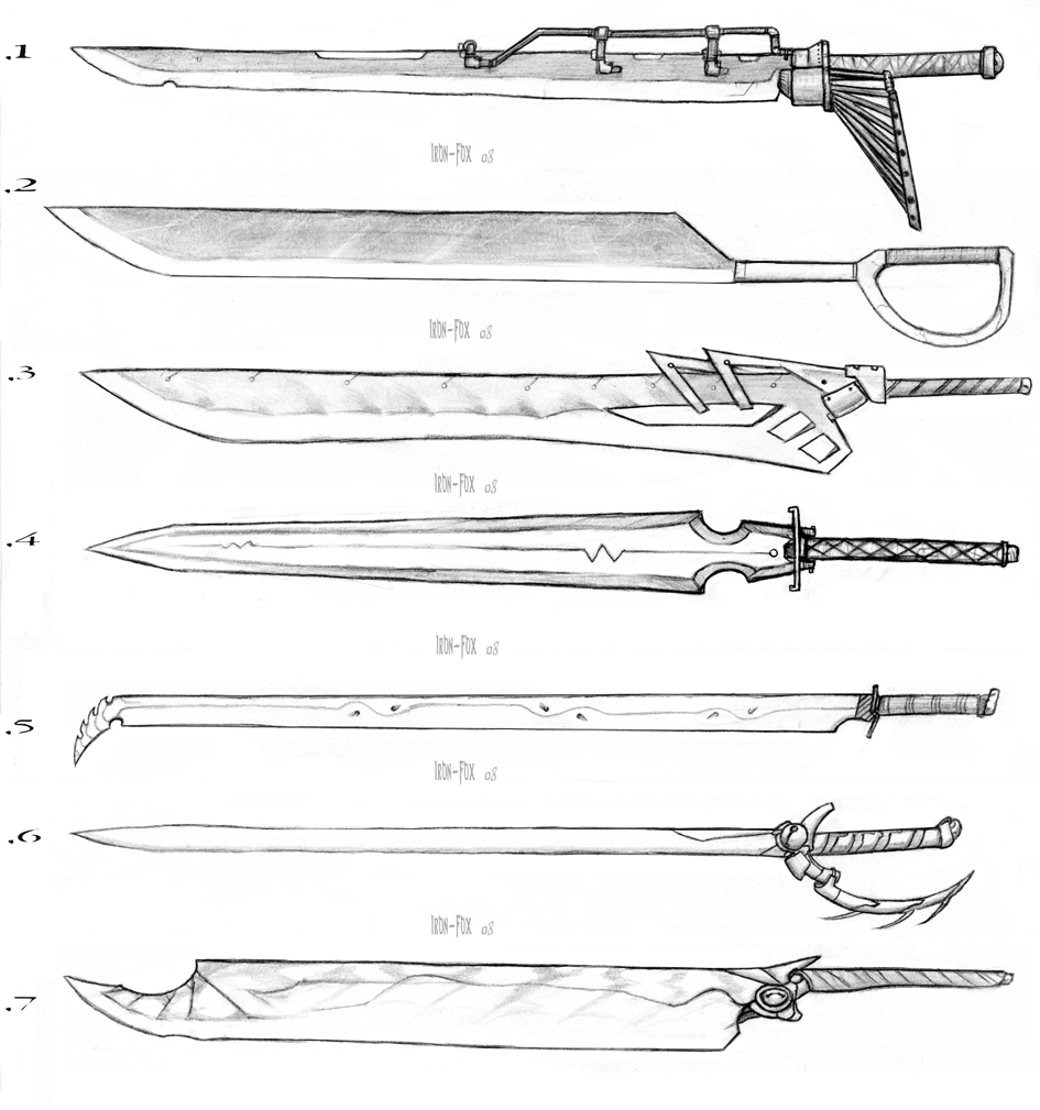 Cool Sword Designs Drawings