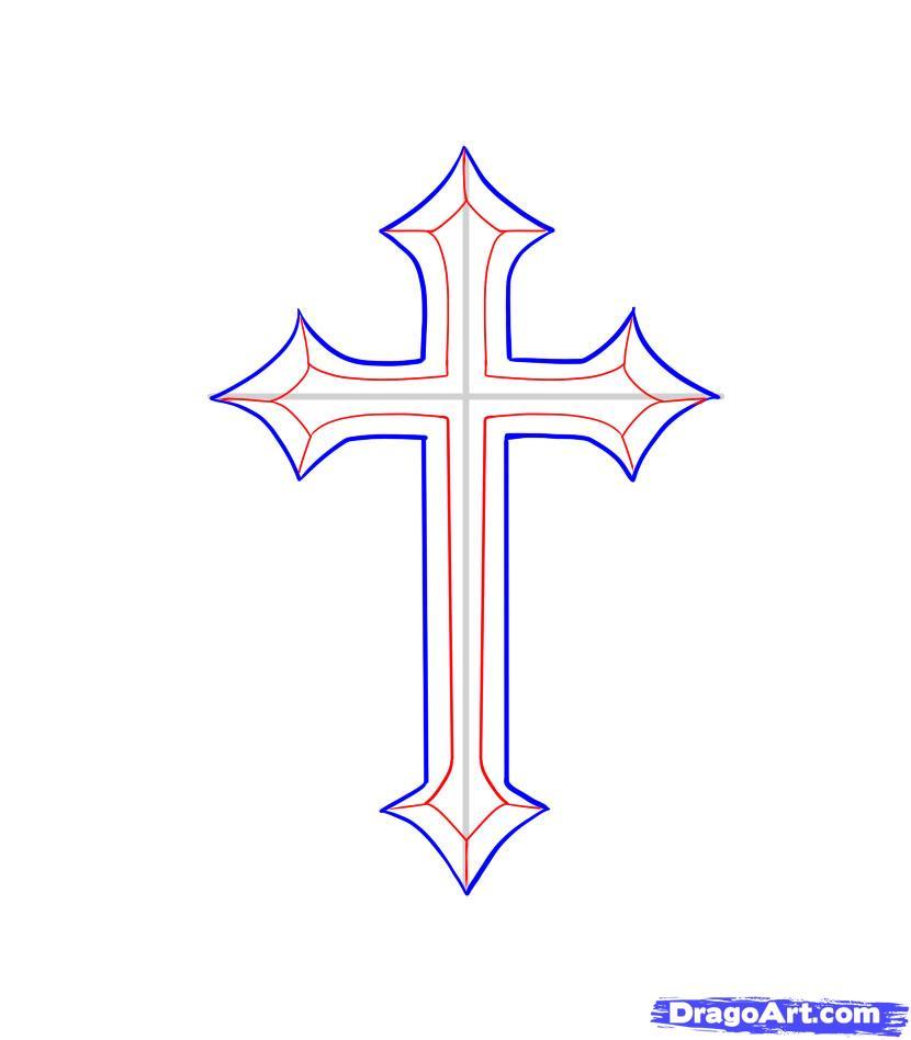 Как правильно крестик рисовать