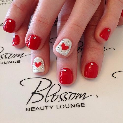 Cute Short Red Nails Designs - 13 Cute Red Nail Designs Images - Red Nail Art Designs, Nail Art