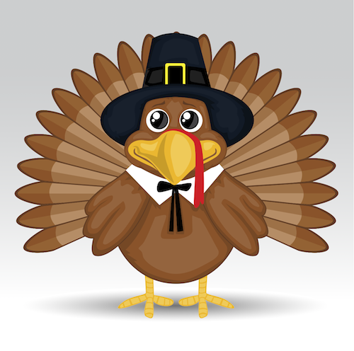 Cute Thanksgiving Turkey Cartoon