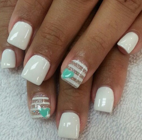 15 Pretty White Nail Designs Images
