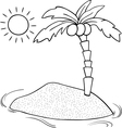 13 Deserted Island Vector Images