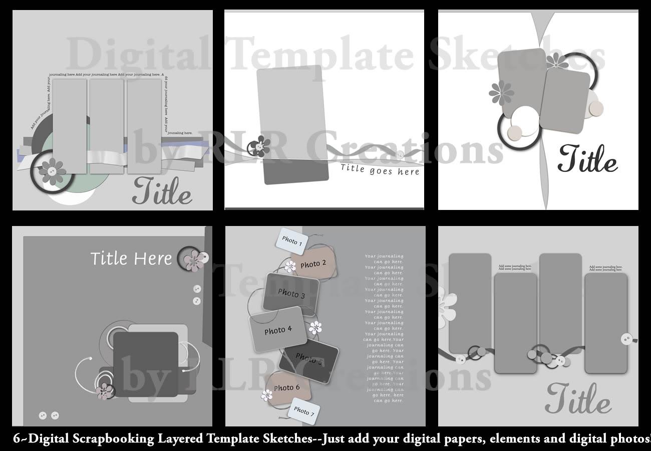 Digital Scrapbook Templates Photoshop