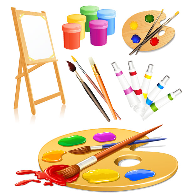 18 Drawing Tools Vector Art Images