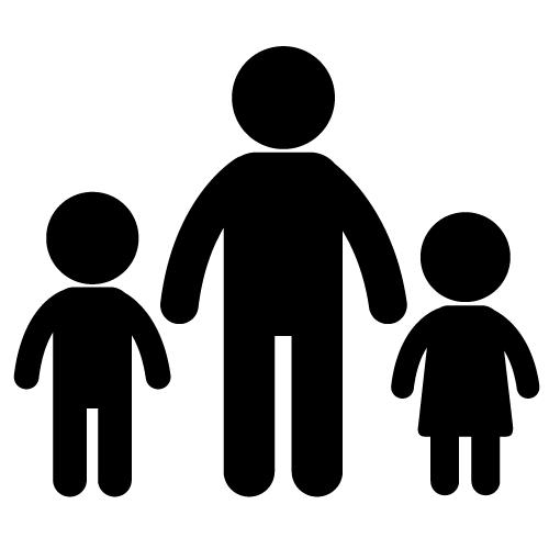 Family Icon Clip Art White
