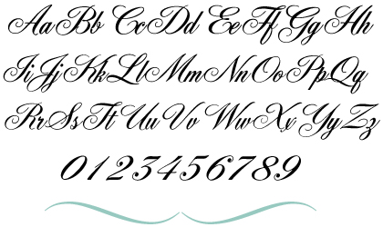 Fancy Cursive Fonts