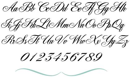 Fancy Cursive Fonts