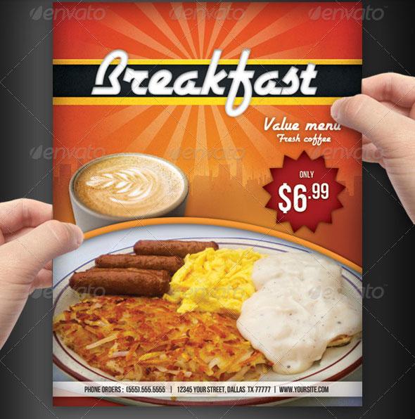 Flyer Breakfast Template Menu