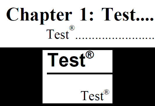 Font Registered Trademark Symbol