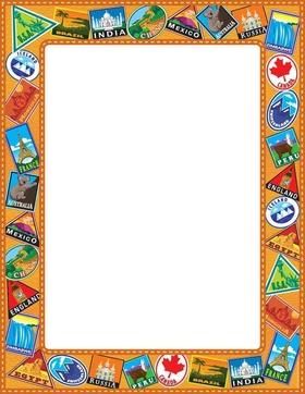 Food Paper Border Designs