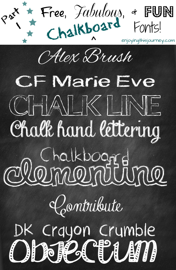 16 Fun Chalkboard Fonts Images
