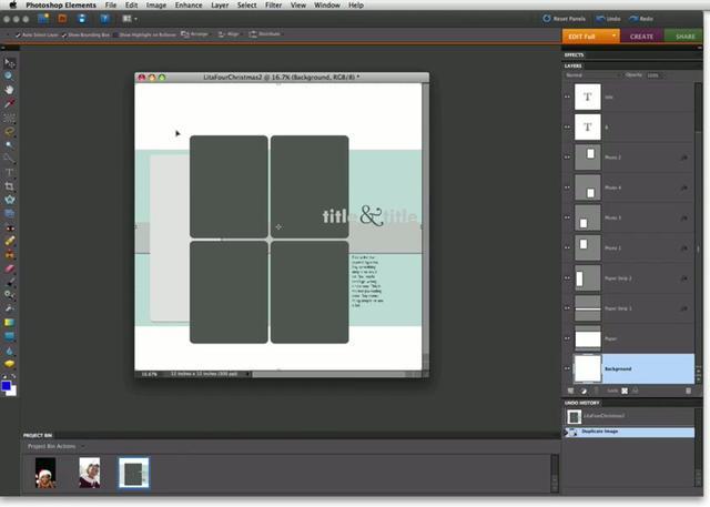 Free Digital Templates Photoshop Elements