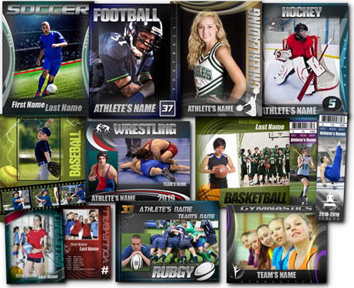 7 Sport Cheer PSD Template Images