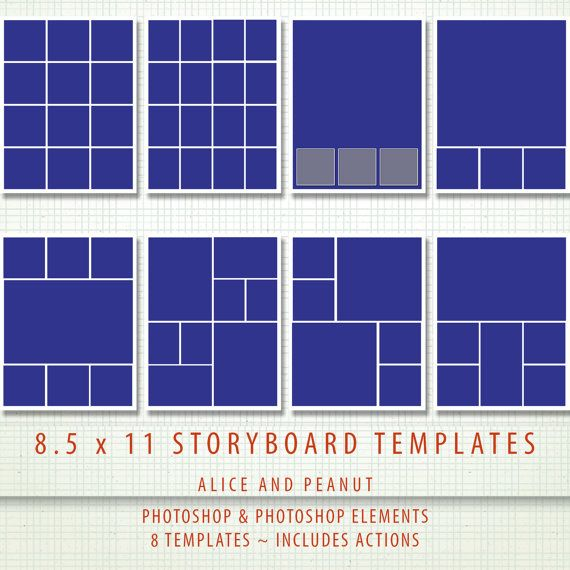 Free Photoshop Storyboard Collage Template