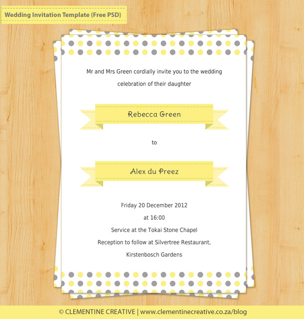 Free Photoshop Wedding Templates Invitations