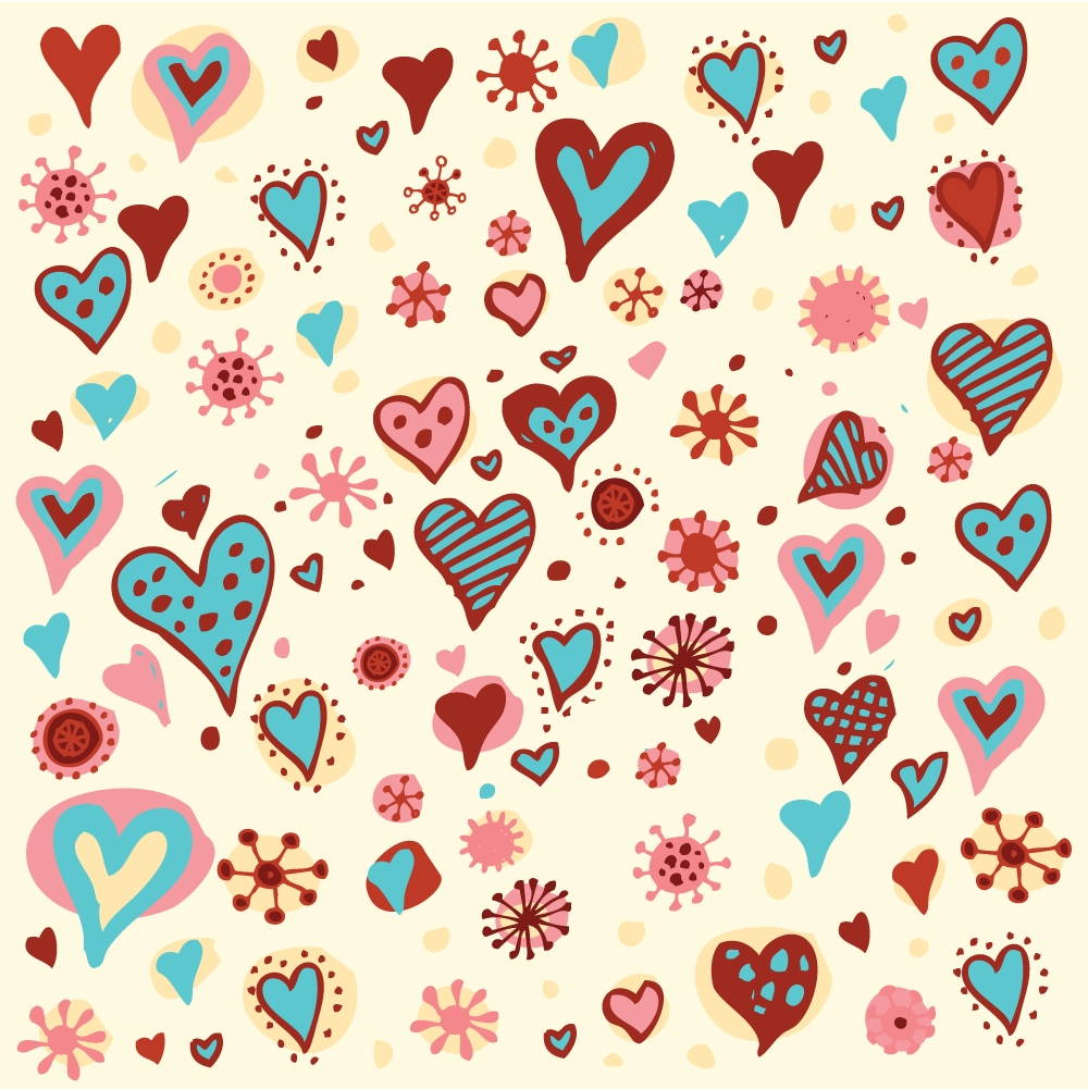 19 Heart Pattern Vector Images