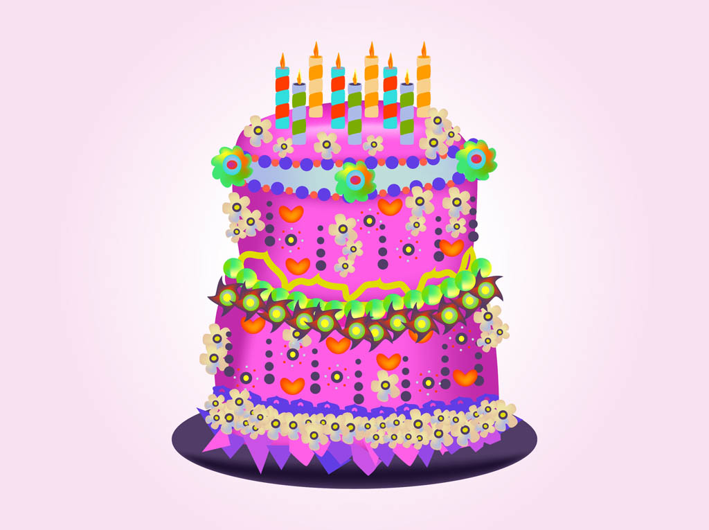 11 Birthday Cake Vector Images
