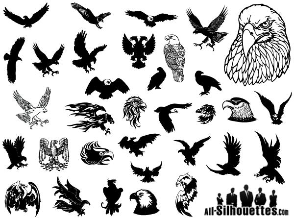 9 War Eagle Vector Clip Art Images