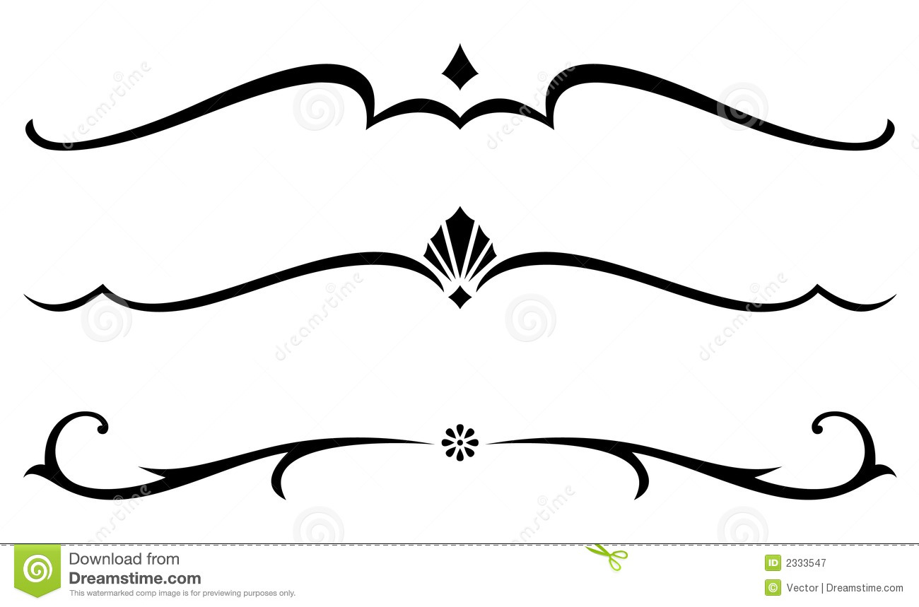 Free Vector Decorative Line Clip Art