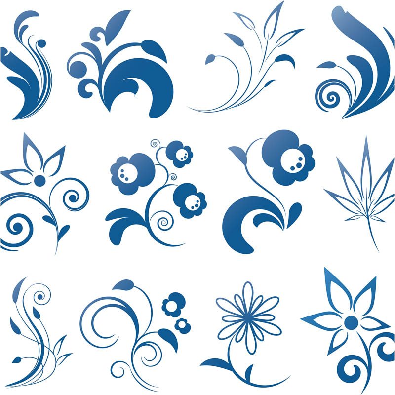 Free Vector Swirls and Flowers