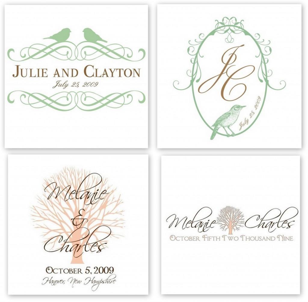 Free Wedding Monogram Logo Design